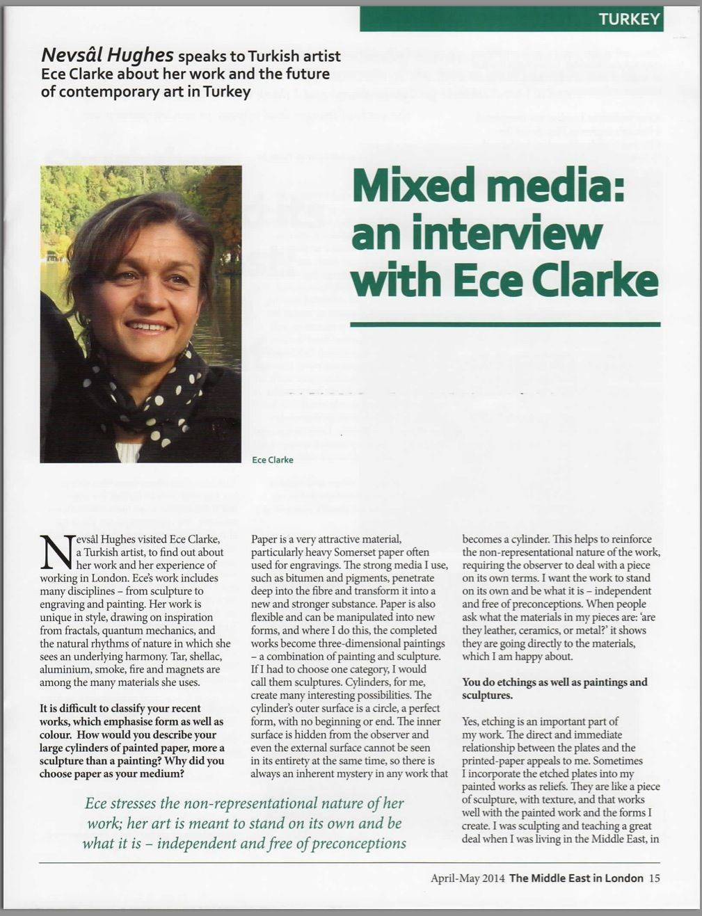 """Mixed Media: an interview with Ece Clarke"""